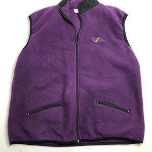 Vintage Retro Banff Alberta Purple Fleece Vest XXL